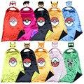 Capa + máscara ceniza pokemon Pokemon pikachu traje traje niños del cabo VAYA traje holloween cosplay costume birthday party Favors
