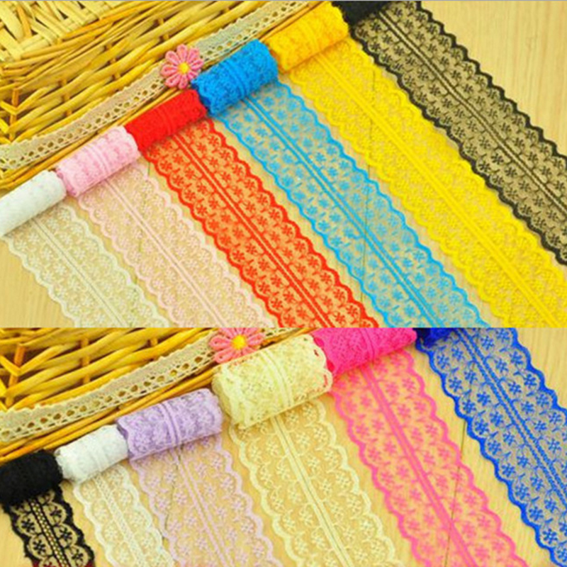 1 Yard 4.5CM Width Lace Ribbon DIY Fabric Lace Trim ...