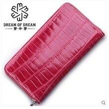 2018 mengzhongmeng women crocodile  leather women purse women handbag women clutch bag  long purse crocodile hand-holding bag elegant women s clutch bag with patent leather and crocodile print design