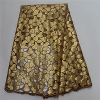 Gorgeous Golden Yellow African Organza Lace Fabric High Quality Gold Nigerian Sequins Lace Fabric For Wedding Dresses PSA171 5