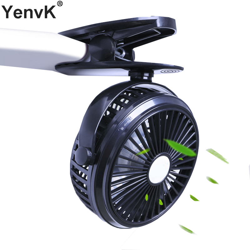 USB Rechargeable Clip Desktop/Table Fan Mini Portable Clamp Fan 720 Degree Rotating Ventilator With Night Light Air Cooler Fan