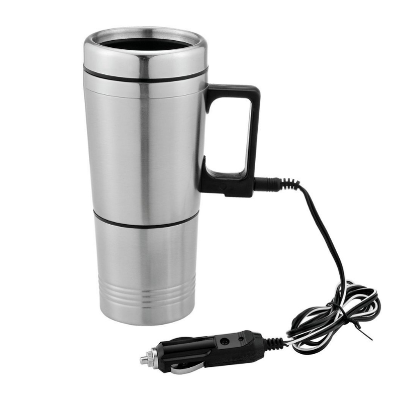 12V 300ml Stainless Steel Car Electric Kettles Car Cup Espresso Coffee Maker Milk Pot Water Heated Mug Thermos Kettles Machine 348ml car heating cup stainless steel dc12v car heated travel mug thermos heating cup kettle car coffee cup auto adapter