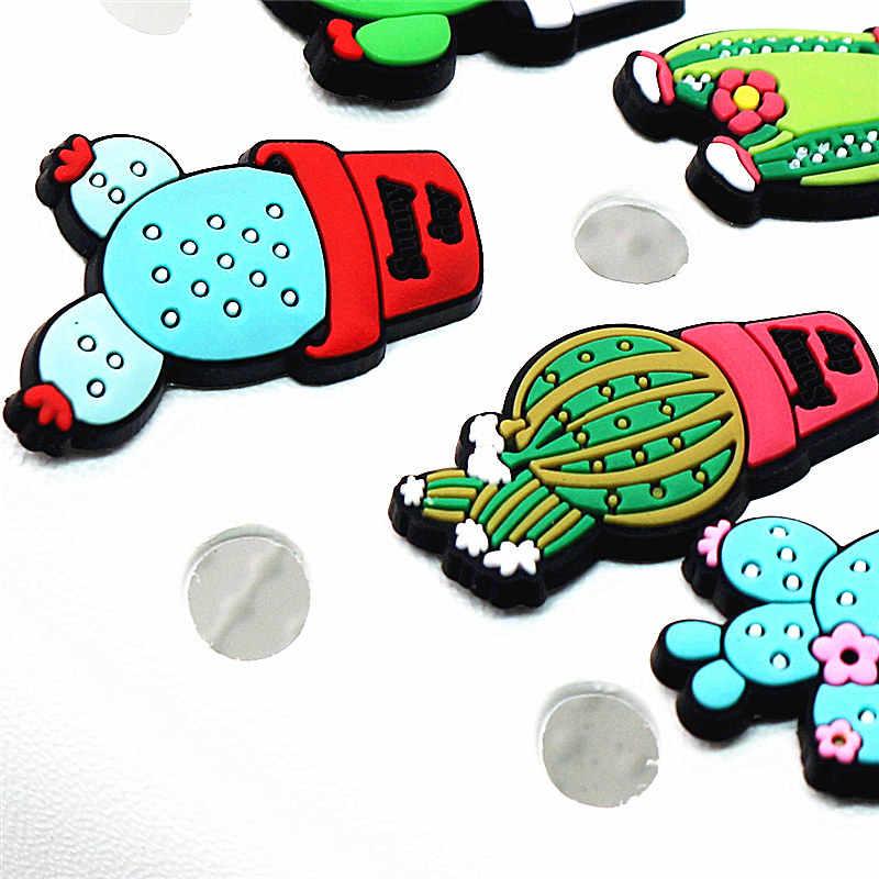 Venta única 1 a 5 uds. Accesorios de colgantes de zapatos de Cactus lindos decoración de zapatos de jardín para croc jibz fiesta de chico X-mas envío gratis