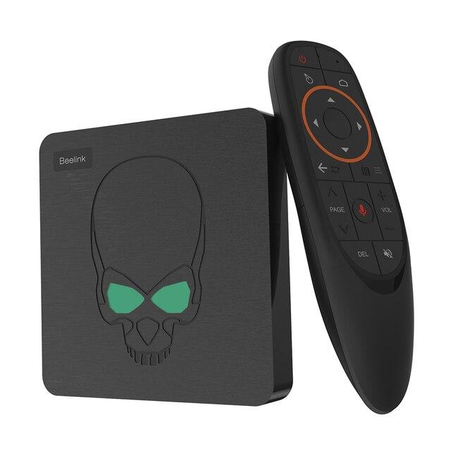 Beelink GT rey caja de TV Android 9,0 Amlogic S922X Hexa-core G52 MP6 gráficos 4GB LPDDR4 64GB ROM 5,8G WiFi Bluetooth 4,1 4K 75hz