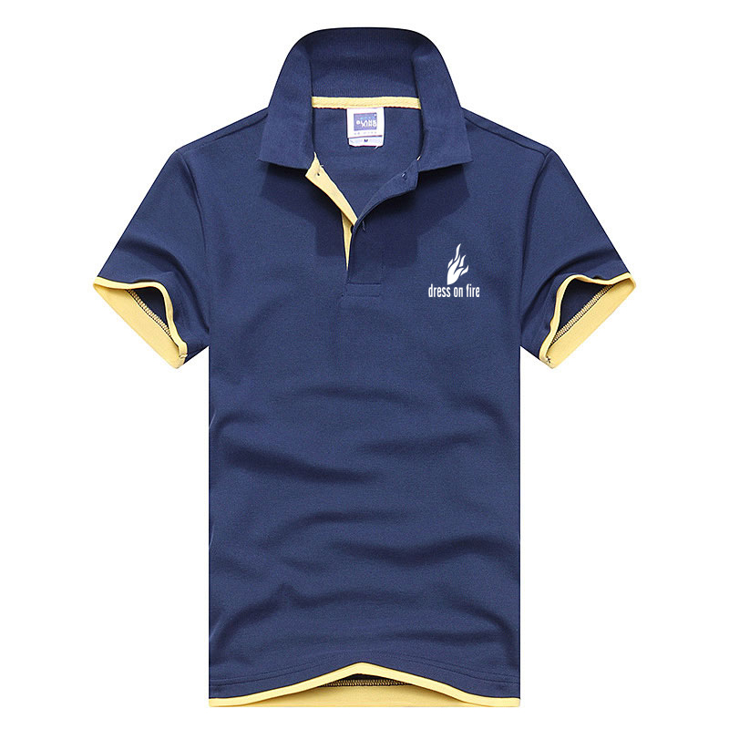 brand Creative DRESS ON FIRE printing Men's   Polo   Shirt Men Cotton Short Sleeve   polo   cloth Tops jerseys Mens Shirts   polo   shirts