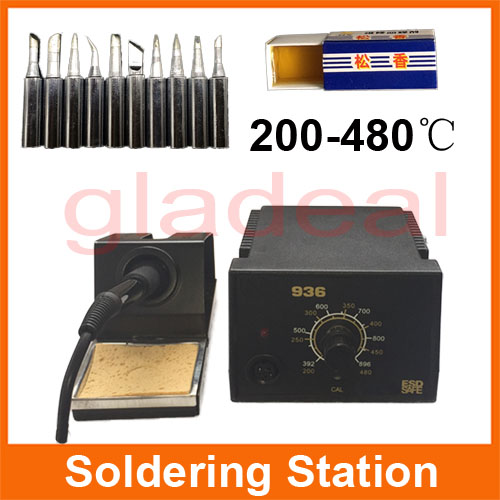 цена на New Professional Adjustable 60W 220V Electric Soldering Iron Station Welding BGA Tool For PCB Repair Rework with Tip