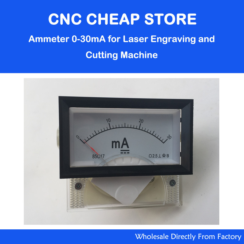 DC Ampere Meter 30mA 85C17 0-30 Milliampere Amp Analog Panel Meter Current Ammeter Co2 Laser Engraver Stamp