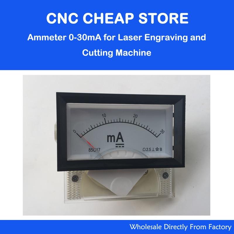 DC Ampere Meter 30mA 85C17 0-30 Milliampere Amp Analog Panel Meter Current Ammeter Co2 Laser Engraver Stamp
