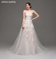 Vinca Sunny 2018 Champagne Wedding Dresses Vestido De Noiva Bride Dresses Robe De Mariag Wedding Gowns
