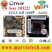 2-МЕГАПИКСЕЛЬНАЯ Full HD CCTV Ip-камера 1080 P wi-fi Платы Модуля DIY Свой Собственный беспроводной CCTV Видео Система Видеонаблюдения Onvif IMX322