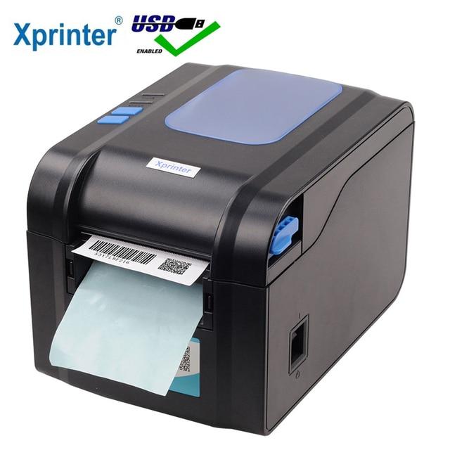 Xprinter 80mm Thermal Label Printer 20mm-80mm Barcode Sticker Printer Bluetooth Printer 365B 370B 330B LAN Bluetooth USB 2