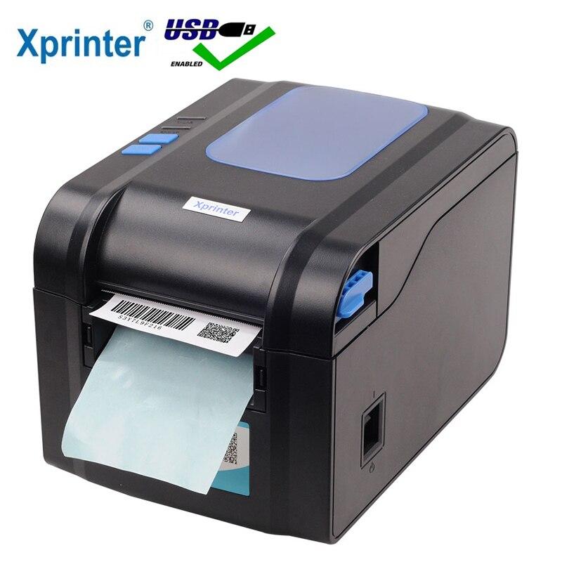 Принтер для печати этикеток Xprinter 80 мм, принтер для печати этикеток 20-80 мм со штрих-кодом, Bluetooth принтер 365B 370B 330B LAN Bluetooth USB