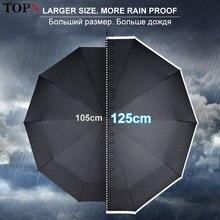 Umbrella Men Parasol Outdoor Fully-Automatic Large Windproof Rain Business Women 125CM