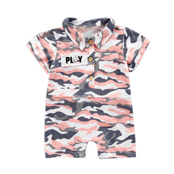 2018 summer new Korean fashion casual sprouting male and female baby infant and child camouflage onesies
