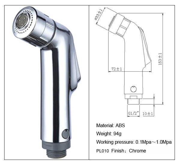 Factory sale ABS hand held shower head toilet bidet shattaf spray toilet shower Sprayer free. High Quality Toilet Showers Buy Cheap Toilet Showers lots from