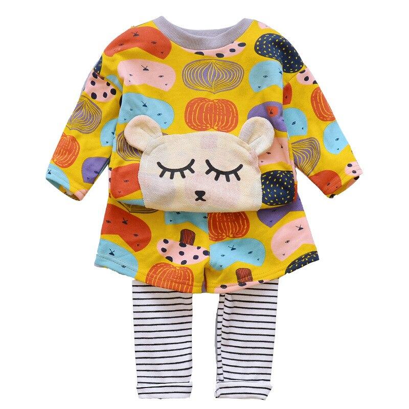 Spring Autumn Children Clothing Set Baby Girls Sports Suit Casual Costume 2017 2pcs Halloween Girl Set