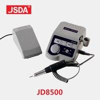Натуральная JSDA JD8500 65 Вт Электрический Фрезер для ногтей, фрезер для сверла профессиональный маникюр, насадки для спиливания, Педикюр Инстру