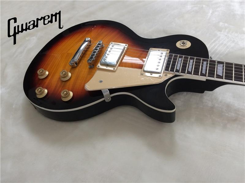 3186e597cfc Image Electric guitar Gwarem lp standardslash sunburst color guitar in china