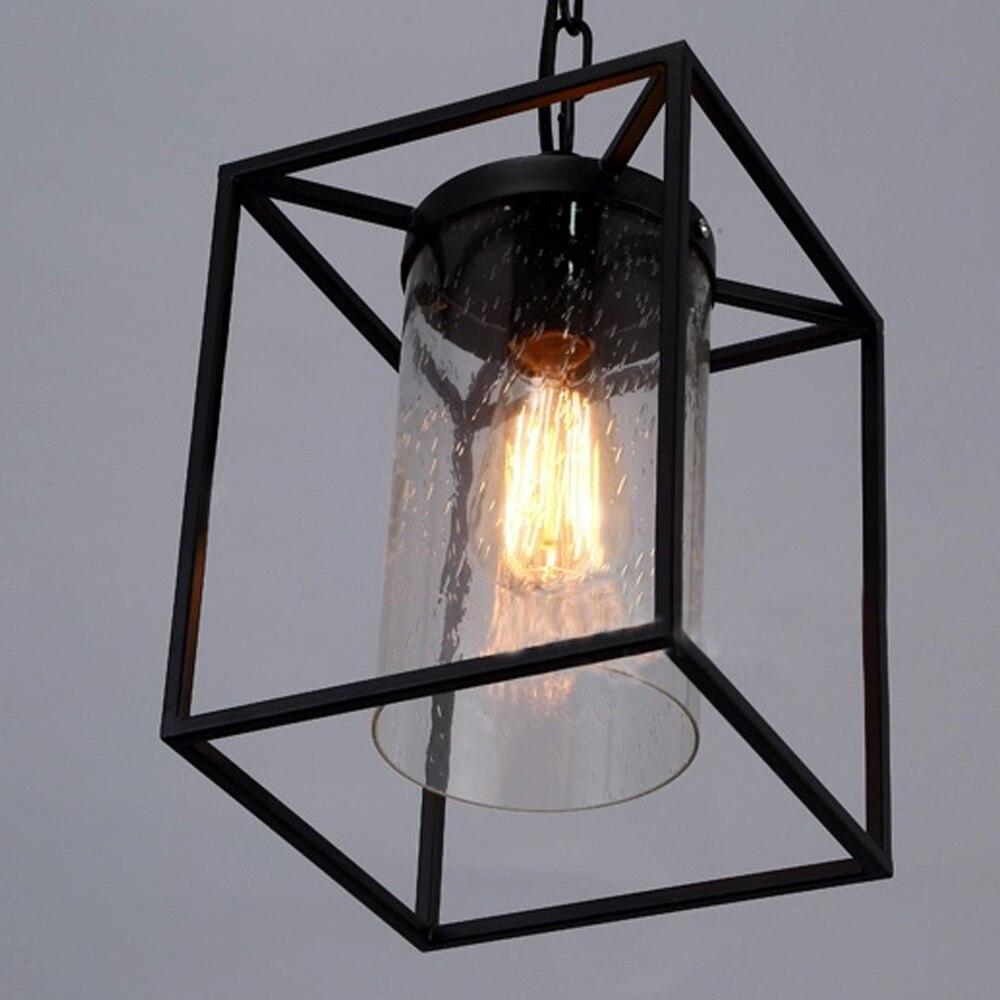 Glas Pendelleuchte Jahrgang Industrielle Beleuchtung Wohnzimmer ...