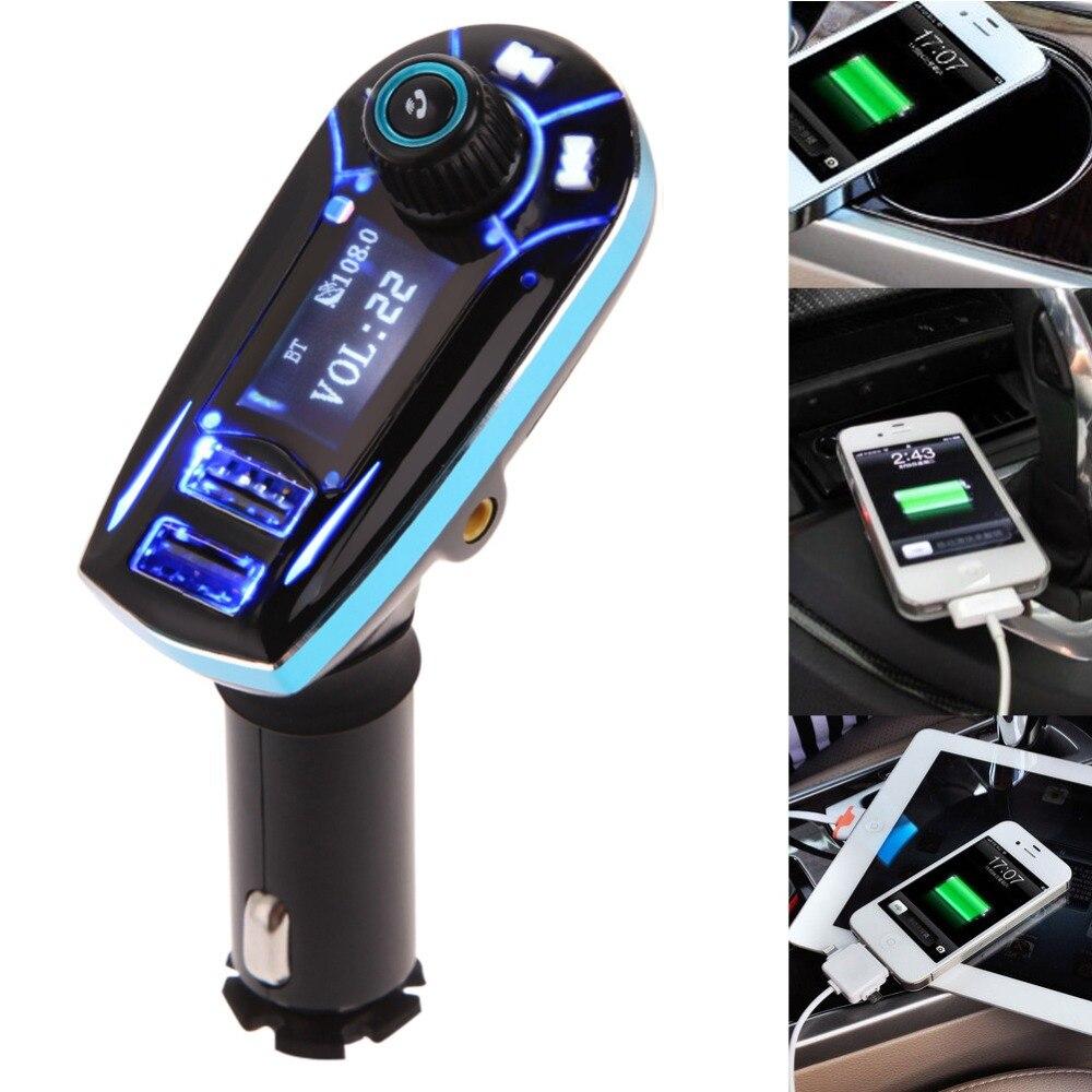 Portable FM Transmitter Bluetooth FM Modulators font b Car b font Audio MP3 Player USB Output