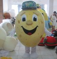 New version handmade custom potato mascot costume with cooing fan