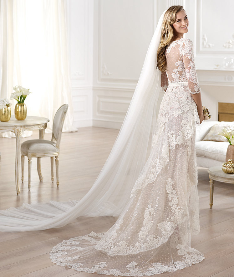 See through Lace Open Back Wedding Dress – fashion dresses
