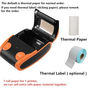 Image 5 - אנדרואיד IOS נייד תרמית תווית מדפסת מיני נייד 58mm ברקוד QR מדבקת נייר כיס Bluetooth מדפסת