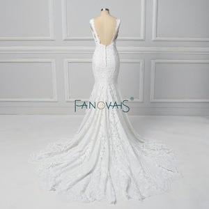 Image 3 - Vintage Lace Mermaid Wedding Dress Vestido de Novia  2019 Backless Wedding Gowns robe de mariee Turkey Bride Gowns