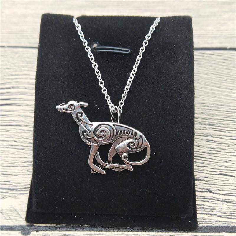 New Italian Greyhound Necklace Trendy Style Spanish Grey Hound Whippet Pendant Necklace Women Fashion Pet Dog Jewellery