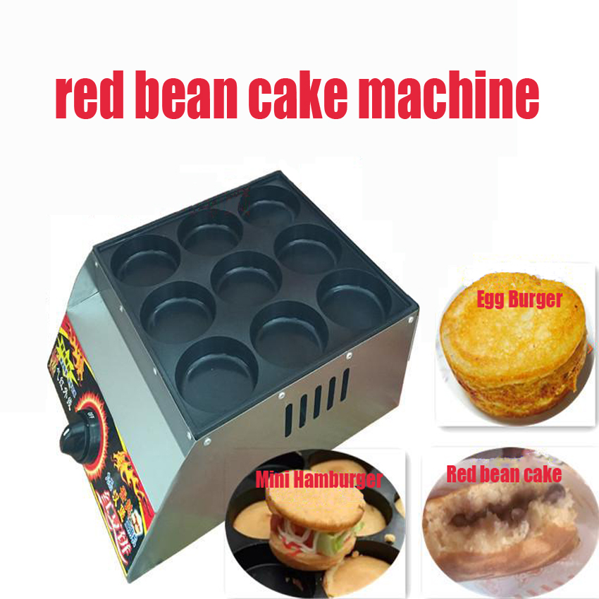 1 PC Commercial Use Non-stick Mini Pancakes Maker Machine/ Gas red bean cake machine Egg burger stove commercial use gas triangle wheat cake baker