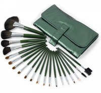Pro 20pcs Goat Hair Makeup Brushes Cosmetic Make Up Set With Green Wrap Brush Set Foundation