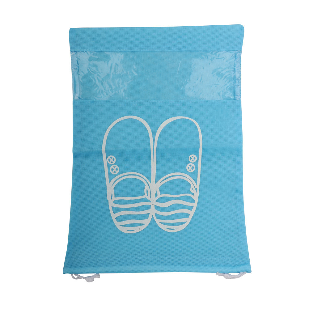 Waterproof Shoes Bag Pouch Storage Travel Bag Portable Tote Drawstring Bag Organizer Cover Non-Woven Travel Accessories#C