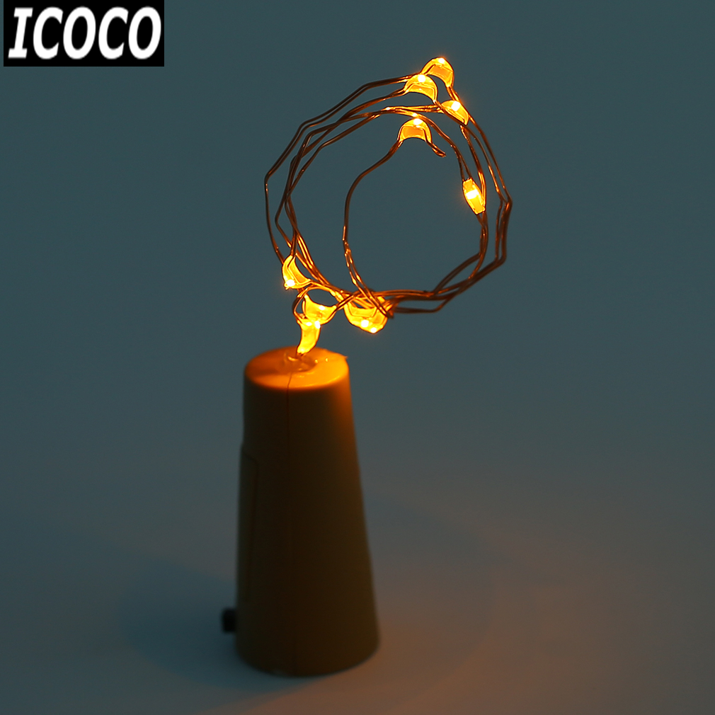 Able Icoco 50cm 10/15leds Copper Cork Shaped Led Energy Saving Night Starry Light String Lamp Party Wedding Home Decoration Promotion Do You Want To Buy Some Chinese Native Produce? Outdoor Lighting