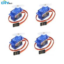 4pcs/lot Feetech FS90R 360 Degree Continuous Rotation Micro RC Servo 6V 1.5KG DIYmall