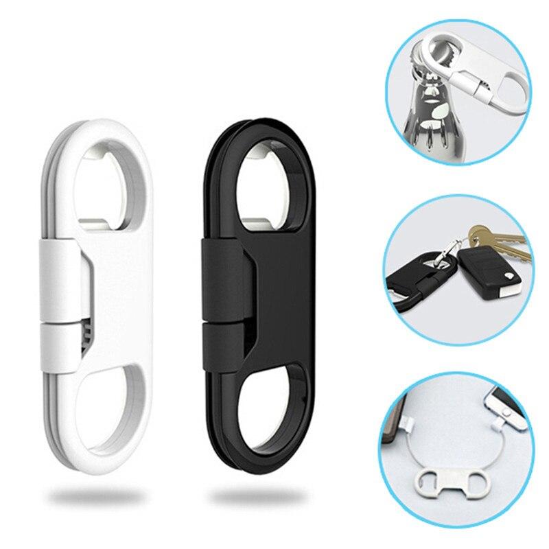 buy charmtek portable metal keychain usb data charge sync cable support bottle. Black Bedroom Furniture Sets. Home Design Ideas