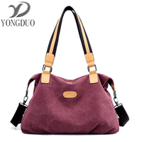 2017 Special Quality Canvas Bag Brand Women Handbag Shoulder Bags Messenger Bags Large Capacity Casual Blue