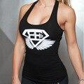 Mulheres de algodão regatas musculação academias de fitness sexy top colheita camisas das mulheres longarina ginásios clothing m24
