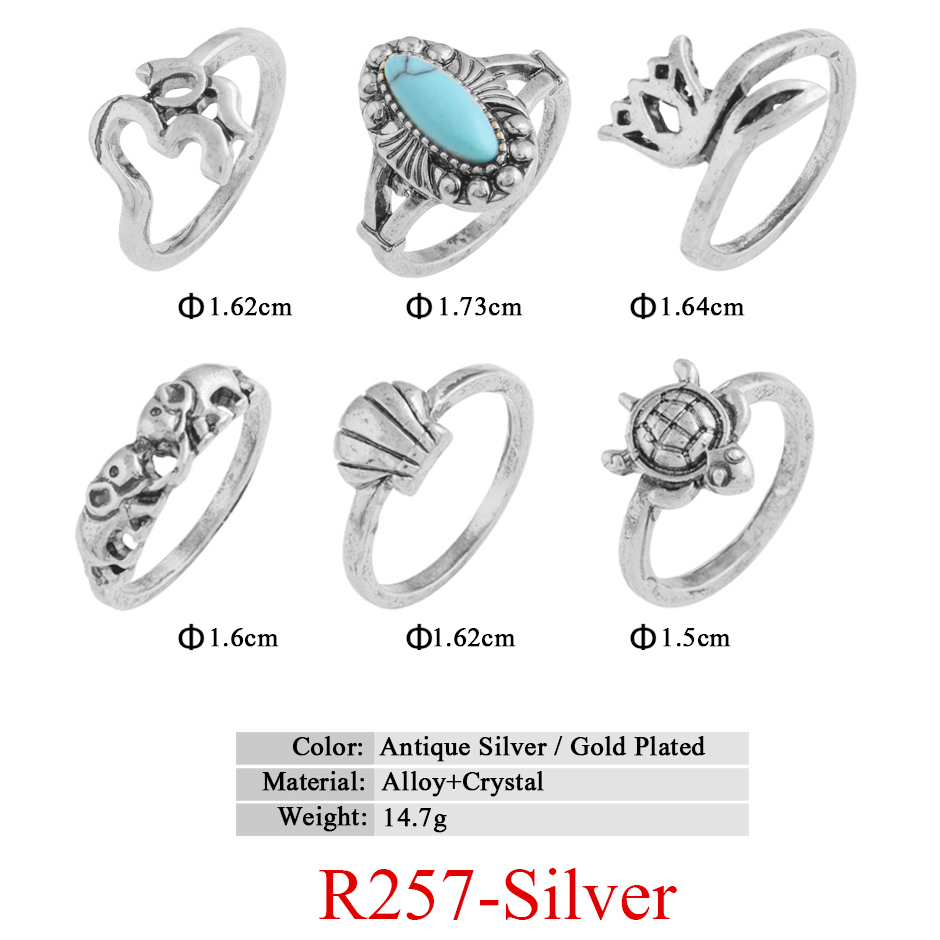 HTB1ANidQVXXXXcZaXXXq6xXFXXXX 11-Pieces Boho Chic Spirituality Silver Plated Antique Stackable Ring Set - 9 Sets
