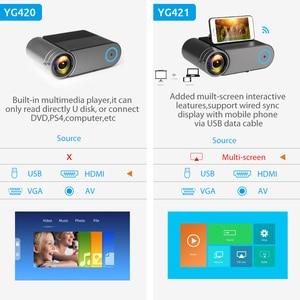 Image 5 - AAO YG500 Updage YG420 מיני LED מקרן Native 1280x720 HD נייד וידאו Beamer YG421 אלחוטי WiFi רב מסך 3D Proyector