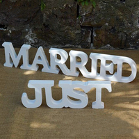 2 Pieces Wedding Sign Wooden Big Size JUST MARRIED Letters Party Decoration Wedding Photography Props Wedding Party Supply