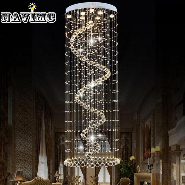 Long Ceiling Light Fixture: Spiral Crystal Ceiling Light Fixture Long Crystal Light lustres de sala  Crystal Lamp for Aisle Hallway,Lighting