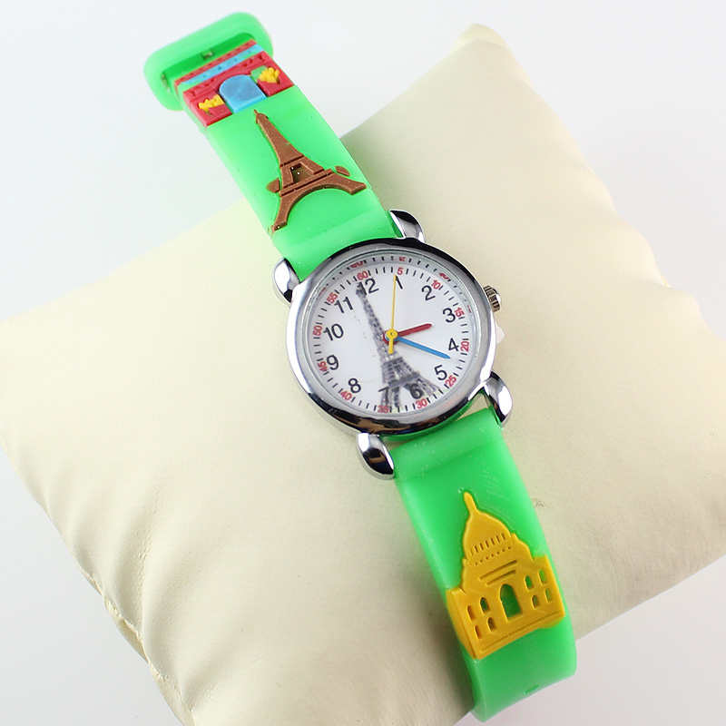 Nouveaux enfants regardent 3D montre-bracelet drôle bande dessinée fête montres enfants (10 pièces)