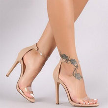 b0e2d67f1 YX Girl Summer bride party sexy woman thin high heels women pumps shoes  woman ankle Strap sandals nude clear