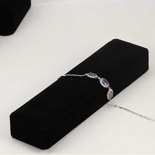 Anillo de terciopelo negro reloj collar pulsera brazalete colgantes joyería caja de regalo para San Valentín Navidad Envío Directo nuevo