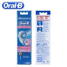 4 шт./упак. Oral B электрические зубные щётки Зубная щётка для Oral B чувствительный бреющая головка Vitality электрическая Зубная щётка головы зубная нить стоматология
