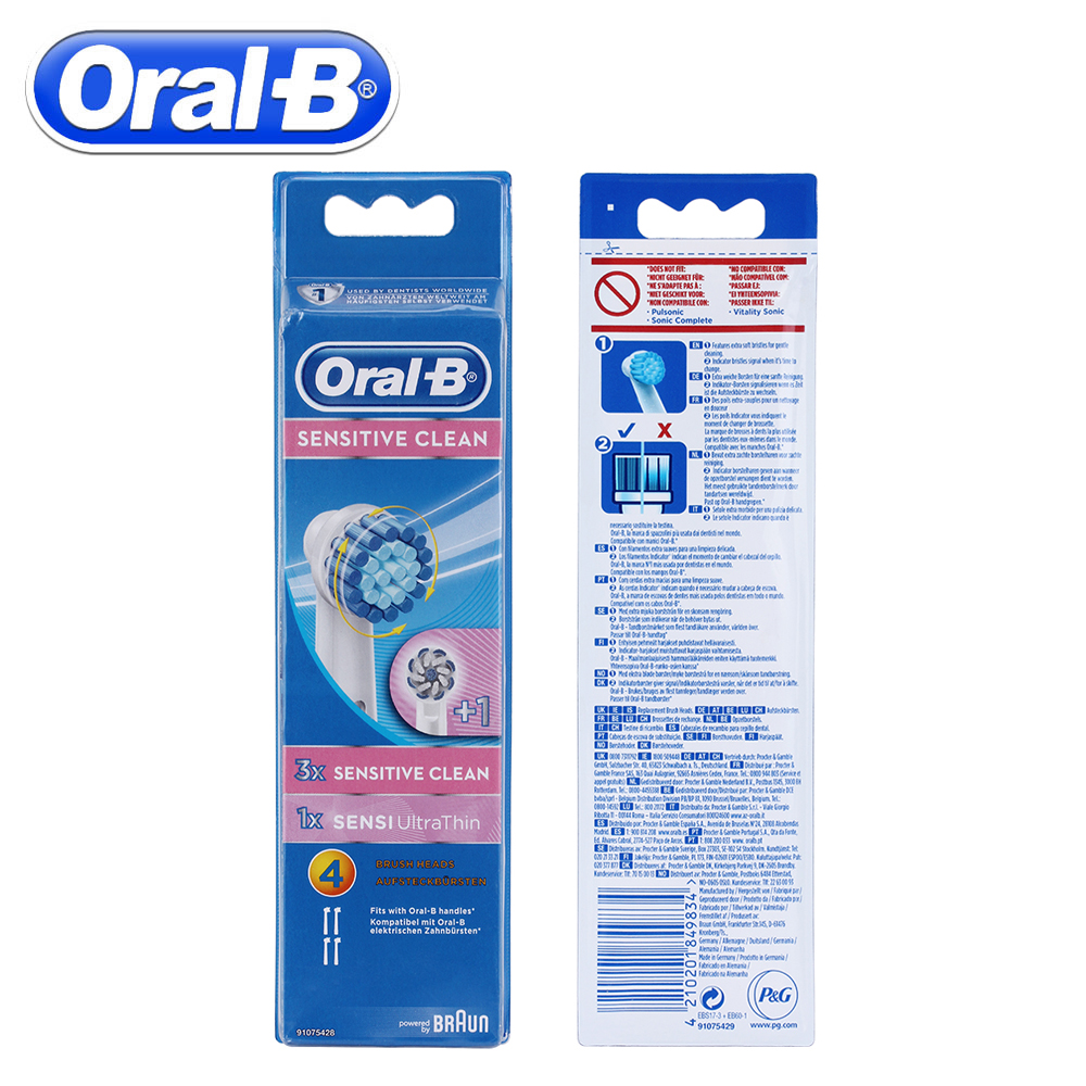 4pc/Pack Oral B Electric Toothbrush Heads For Oral B Sensitive Replacement  Head Vitality Electric Toothbrush Head Floss Dental