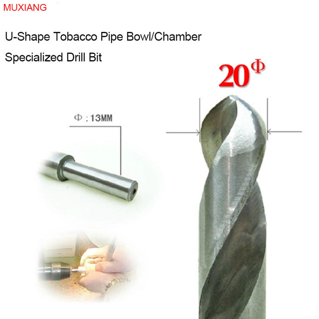 MUXIANG Tobacco Pipe Bowl Drill Bit for the U-shape 20 mm Diameter Smoker Chamber Available for Lathe and Bench Drill jb0020
