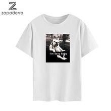 Fashion Women T-Shirt Big Plus Size Tshirt Femme Print Sexy Dog Cartoon T Shirt Top White Female Tops Short Tee Shirt Funny Girl