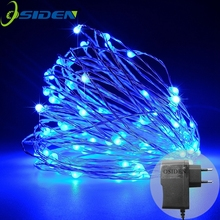 OSIDEN 100 LED Lights Copper String 33 Ft Bundle with 12v Adapter Warm White Wedding christmas Holiday Decorative LED Lights