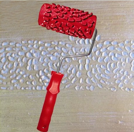Art Wall Tool 4 Inch Rubber Textured Roller For Wall